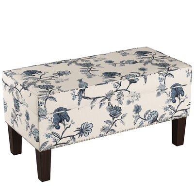 Macie Upholstered Storage Bench Body Fabric: Shaana Indigo