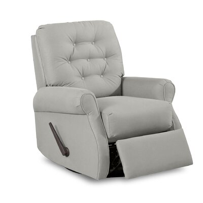 Vinton Swivel Gliding Reclining Chair Body Fabric: Vintage Flint