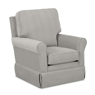 Bridgeport Swivel Glider Body Fabric: Aubusson Charcoal