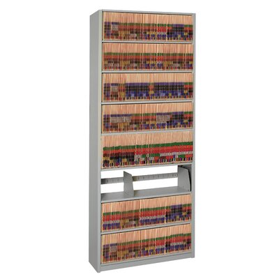 "4Post-In-A-Box 88.25"" H Nine Shelf Shelving Unit Starter Color: Light Gray"