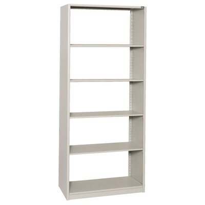 "4Post-In-A-Box 36"" H Six Shelf Shelving Unit Add-on Color: Light Gray, Size: 36"" H x 88.25"" W x 24"" D"