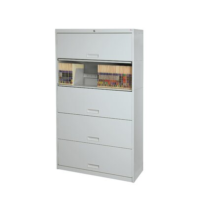 """Stak-N-Lok 100 Series 5 Door 24"""" W Letter Size and Locking High Cabinet Finish: Light Gray"""