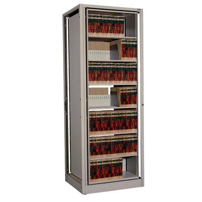 "Ez2 Rotary File 82.5"" H Seven Shelf Shelving Unit Color: Warm Brown"