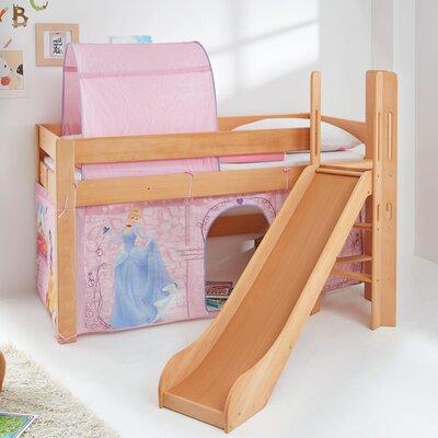 halbhochbett leo mit rutsche und ber eck gebauter leiter. Black Bedroom Furniture Sets. Home Design Ideas