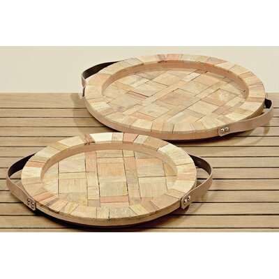 Boltze 2-Piece Decorative Tray Set