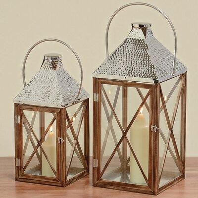 Boltze Pisek 2-Piece Lantern Set