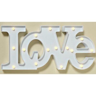 Boltze Love LED Block Capitals