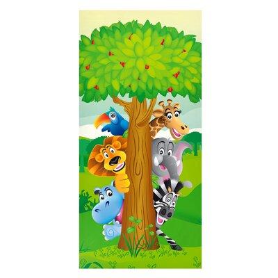 Mantiburi Paneel Dschungeltiere Zoo Kinderzimmer Photodruck