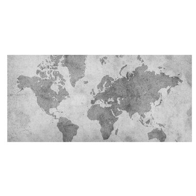 Mantiburi Paneel Vintage Weltkarte II Photodruck