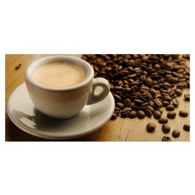 Mantiburi Paneel Espresso & Beans Photodruck in Braun