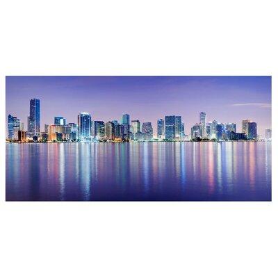 Mantiburi Paneel Purple Miami Beach Photodruck