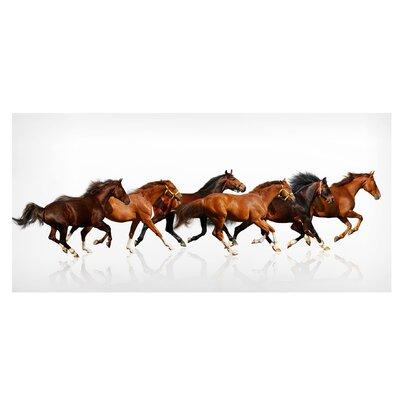 Mantiburi Paneel Pferdeherde Photodruck