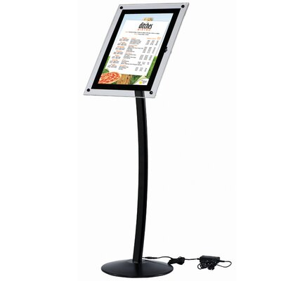 Metroplan Busyfold Busygrip Black Illuminated Poster Stand