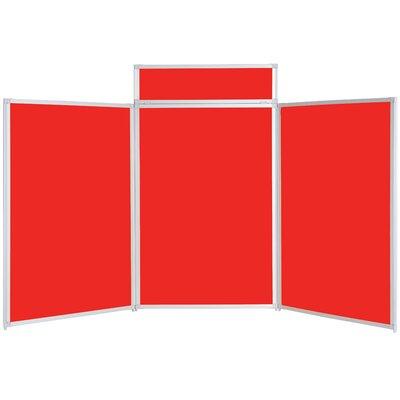 Metroplan Busyfold Free-Standing Bulletin Board, 120cm H x 210cm W