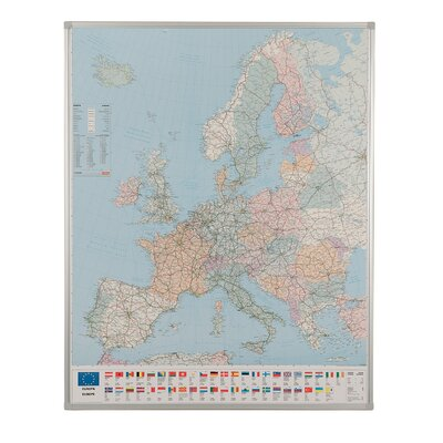 Metroplan Framed Drywipe Map Framed Graphic Art