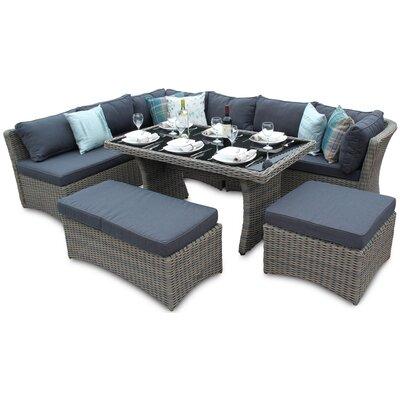 DECO Alfresco Tri-weave 9 Seater Dining Set