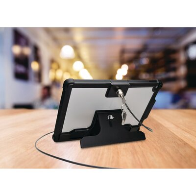 "Security Case with Kickstand and Galvanized Steel Antitheft Cable for Pro 12.9"" iPad Mounting System"