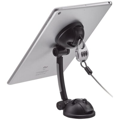 Suction-Mount Stand with Theft-Deterrent Lock for Tablet and Smartphone Mounting System