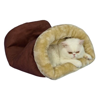 Tube Cat Bed Color: Indian Red and Beige
