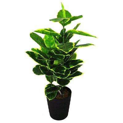 Geko Products Artificial Rubber Ficus Plant