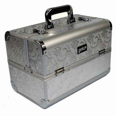Geko Products Vanity Case / Makeup Box in Silver