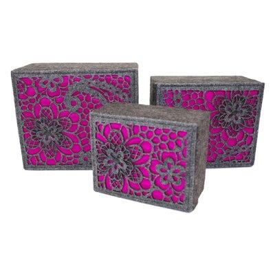 Geko Products 3 Piece Luxury Storage Box Set