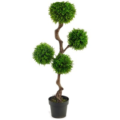 Geko Products Artificial UV Boxwood Topiay Tree