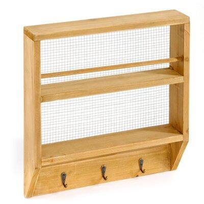 Geko Products Wall Shelf with hooks