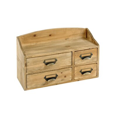 Geko Products Shabby Elegance 4 Drawer Chest