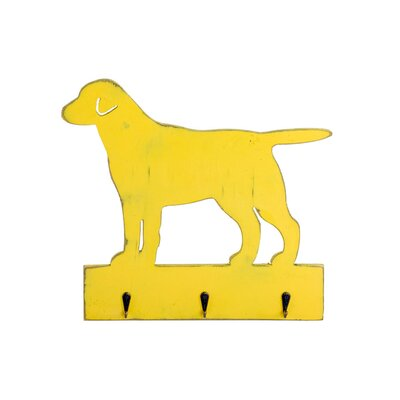 Geko Products Vintage Dog Shape Wall Mounted Coat Rack