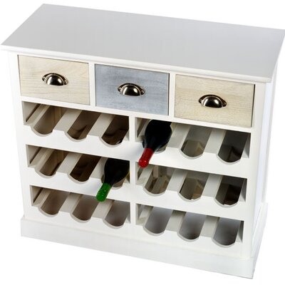 Geko Products 18 Bottles Tabletop Wine Cabinet