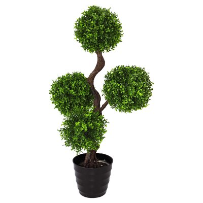 Geko Products Single Artificial Large UV Boxwood Topiay Tree