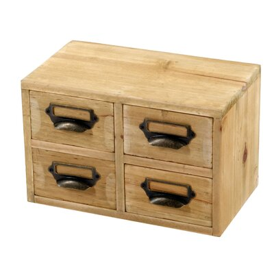 Geko Products 4 Storage Drawers Jewellery Box