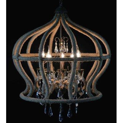 Besp-Oak Furniture Bird Cage 6 Light Foyer Chandelier