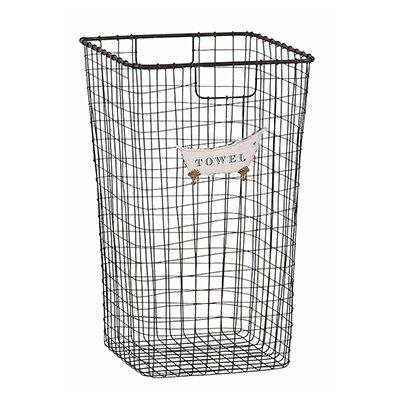 Besp-Oak Furniture Tall Iron Towel Basket
