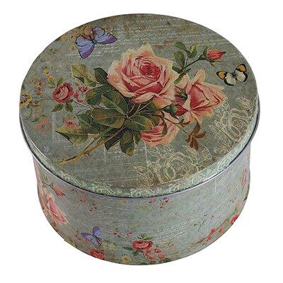 Besp-Oak Furniture Small Floral Iron Tin