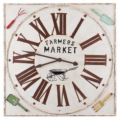 Besp-Oak Furniture Square Farmers Market Clock
