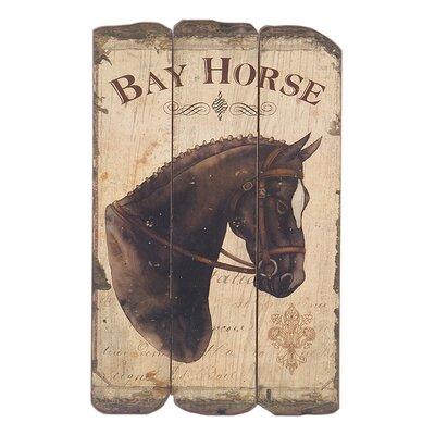 Besp-Oak Furniture Bay Horse Graphic Art Plaque