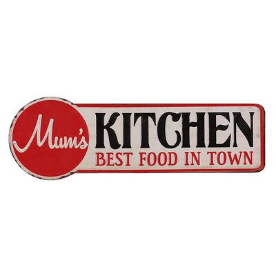 Besp-Oak Furniture Iron Best Food in Town Wall Décor