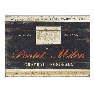 Besp-Oak Furniture Bordeaux Winecase Graphic Art Plaque