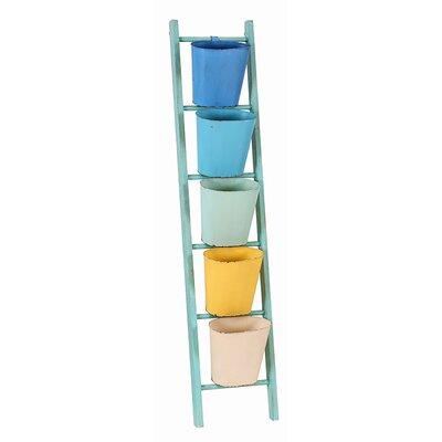 Besp-Oak Furniture Ladder 36.3 x 169cm Bathroom Shelf