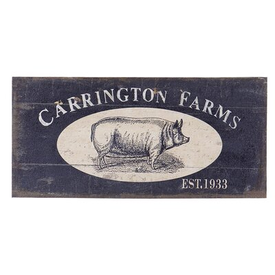 Besp-Oak Furniture Carrington Farms Flax Graphic Art Plaque
