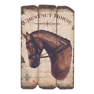 Besp-Oak Furniture Chestnut Horse Graphic Art Plaque
