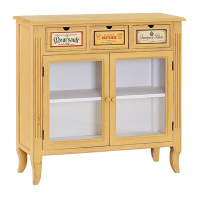 Besp-Oak Furniture French Glass Painted Wooden Cabinet