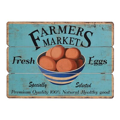 Besp-Oak Furniture Wooden Farmers Market Graphic Art Plaque