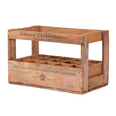Besp-Oak Furniture 15 Bottle Tabletop Wine Rack