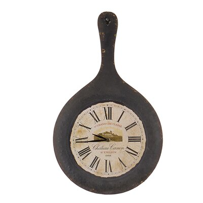 Besp-Oak Furniture Iron Pan Clock