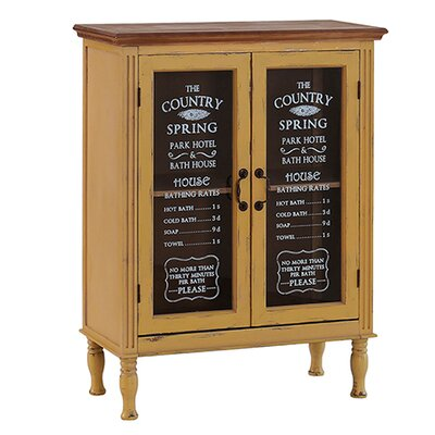 Besp-Oak Furniture Glass Fronted Bath House Cupboard with 2 Doors