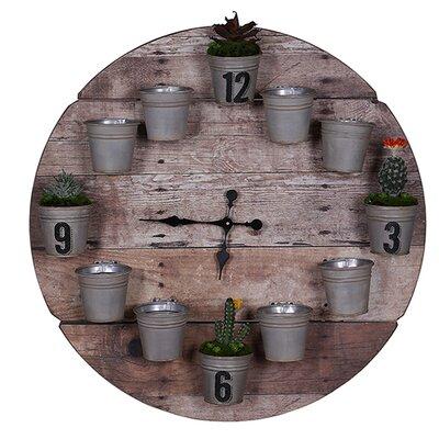 Besp-Oak Furniture 81cm Flower Pot Clock