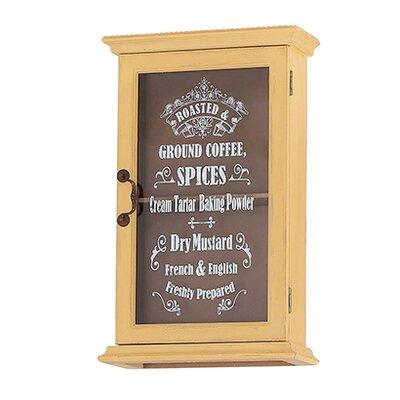 Besp-Oak Furniture Glass Fronted Spice Cupboard with 1 Door